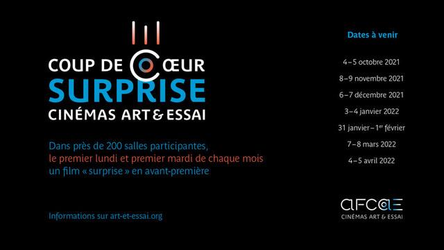 Coup de Coeur surprise des cinémas Art & Essai